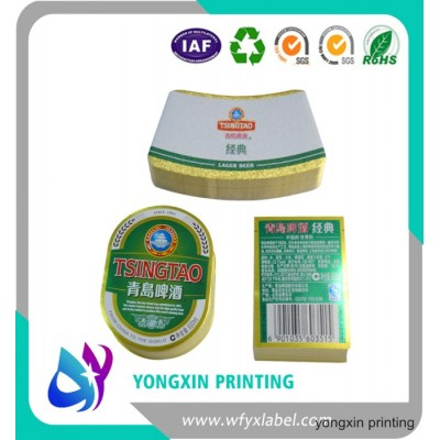 Yongxin metalized paper label for beer bottle