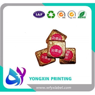 Colored Printed aluminum foil chocolate wrapper