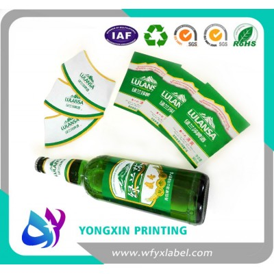 Embossing beer bottle labels
