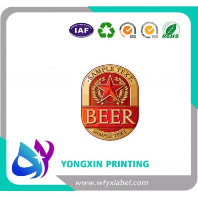 Customized size wet strengthen art paper beer labels