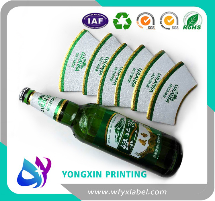 High glossy aluminium foil beer bottle labels