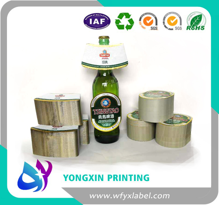Metalized beer bottle labels