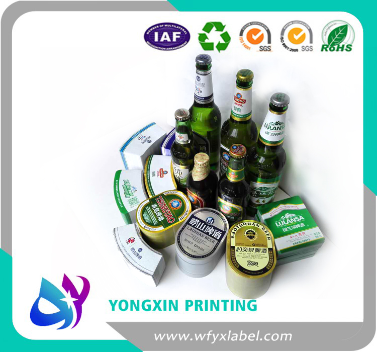 Waterproof high glossy beer bottle labels