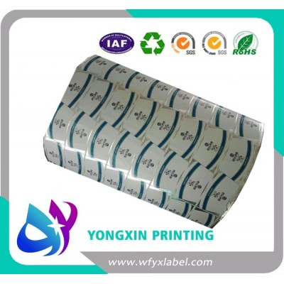 High glossy embossed aluminium foil labels
