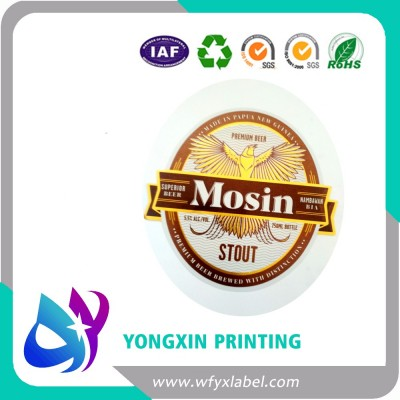 High quality  metallized  beer labels for foreign beer