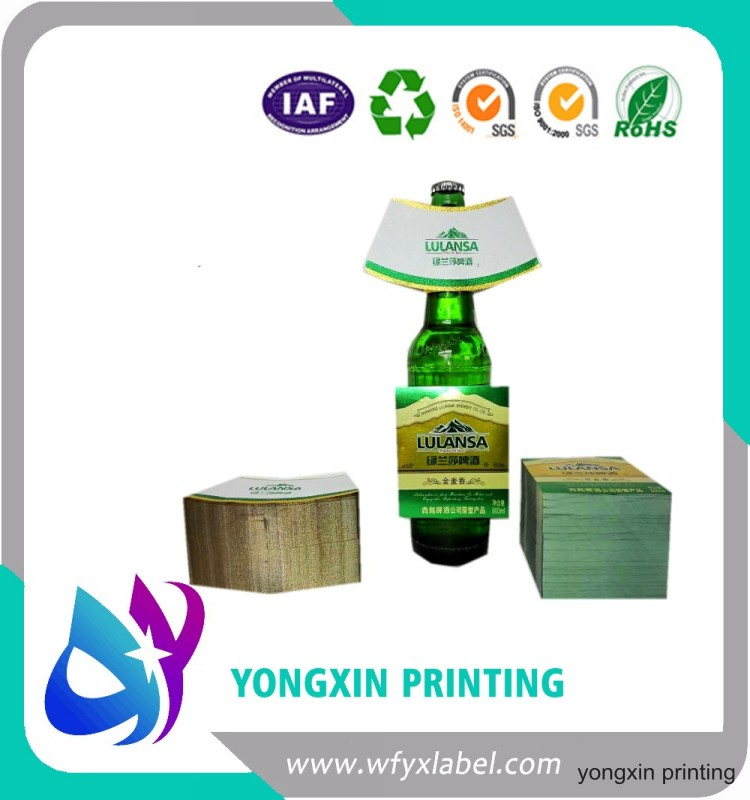 high quality of custom made  metallized high good quality of   beer  labels,gold stamping